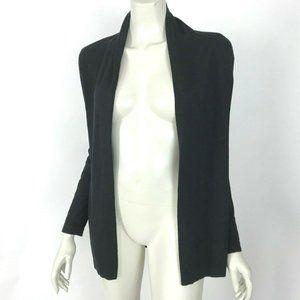 J Mclaughlin Black Open Front Cardigan Sweater